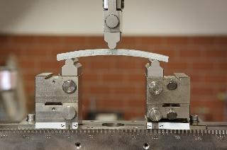 material sample in testing device