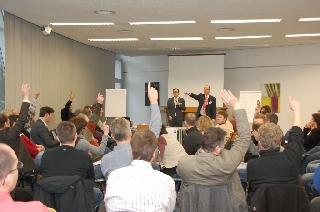 Network members adopt common paths