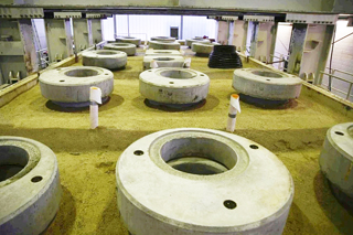 manholes in IKT's large-scale test facility